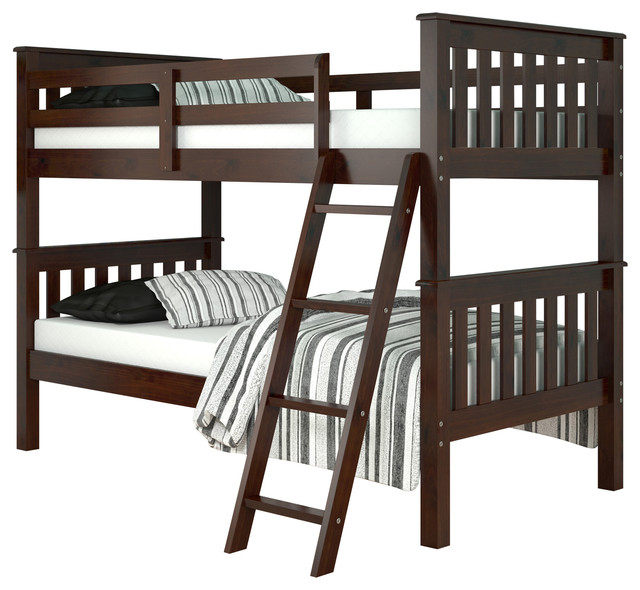 Donco Kids Mission Bunk Bed Twin Over Twin Transitional Bunk