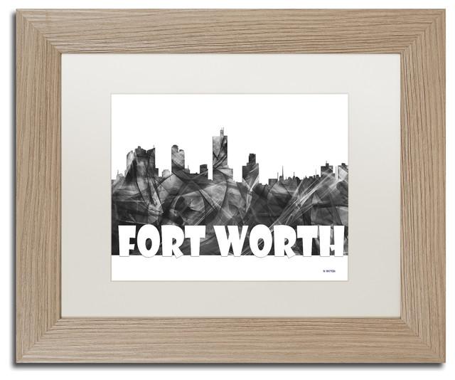 Fort Worth Texas Skyline Bg-2\' Matted Framed Art - Contemporary ...