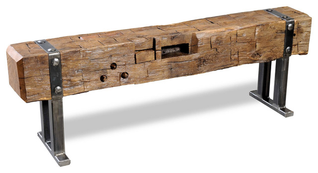 Beam Bench Strapped 60 Quot Contemporary Accent And