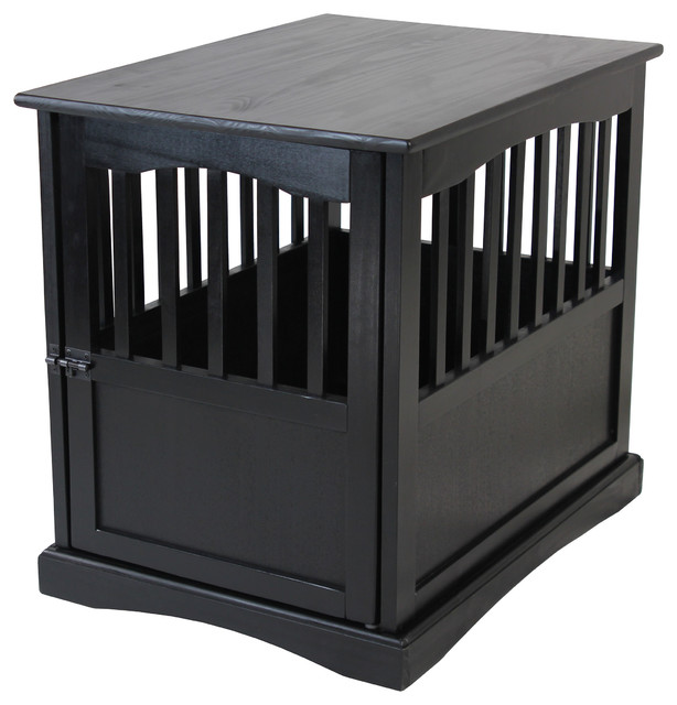 Pet Crate End Table Transitional Dog Kennels And