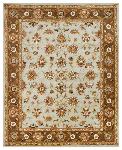 Chandra Perusia Perusia002 Rug Light Blue Brown Green Tan Yellow Traditional Area Rugs By Buyarearugs