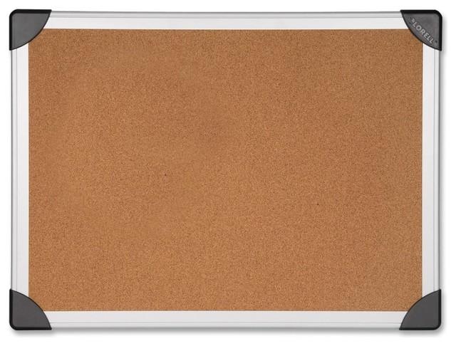 "Lorell Cork Board, 24""X36"", Aluminum Frame"