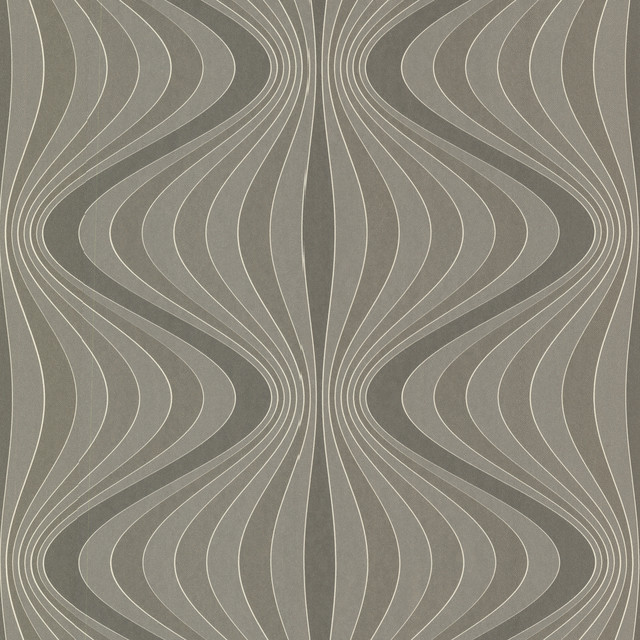 Decorline Geometrics Gravure Ogee Wallpaper Contemporary