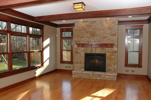 How do you combine white trim with stained baseboards for Combining stained and painted trim