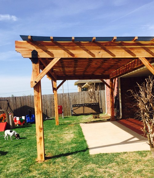 10x20 Pergola With Polycarbonate Roofing And Decorative