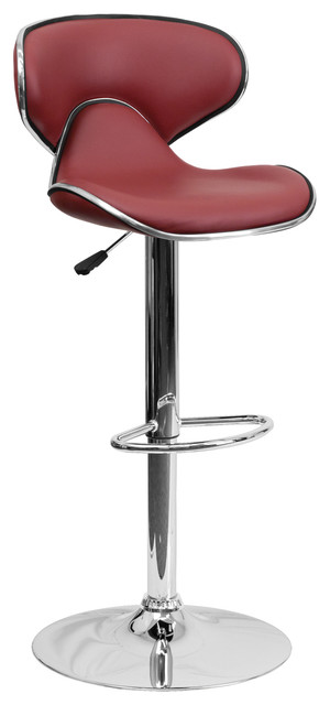 Hayward Mid Back Adjustable Bar Stool Contemporary Bar