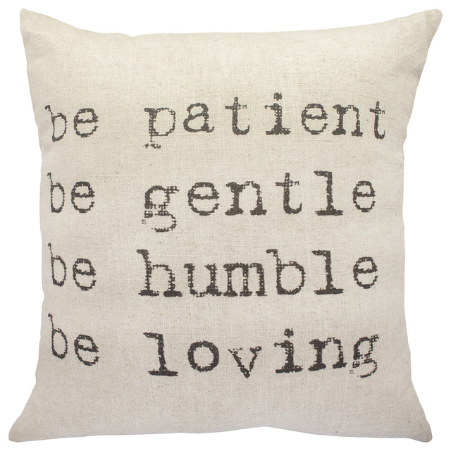 """be Patient"" Throw Pillow."