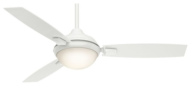 Casablanca 59158, Verse 54 Damp Ceiling Fan With Light, Fresh White.