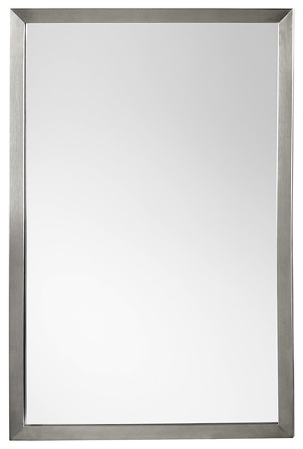 "Chrome Framed Bathroom Mirrors ronbow 603423 contemporary 23""x34"" metal framed bathroom mirror"