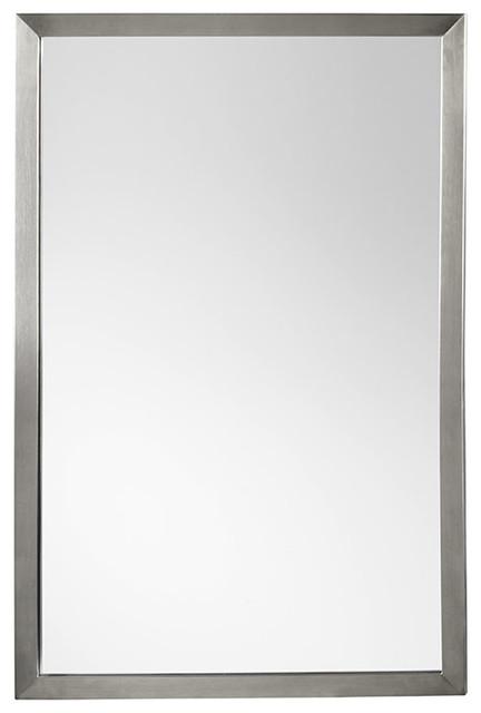 Ronbow Emile 22x32 Metal Frame Bathroom Vanity Mirror, Brushed Nickel.