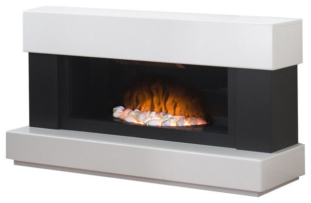 Adam verona fireplace suite in white with electric fire - Contemporary electric fireplace insert accessories ...