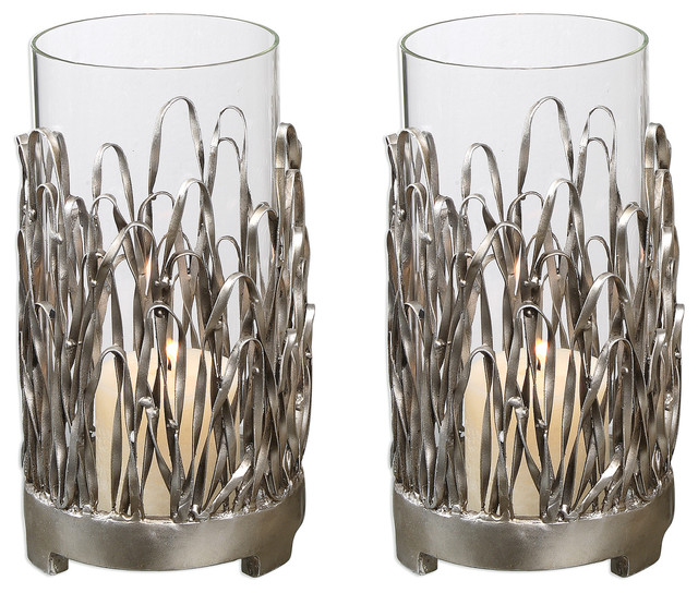 Uttermost Corbis Candleholders, Set of 2