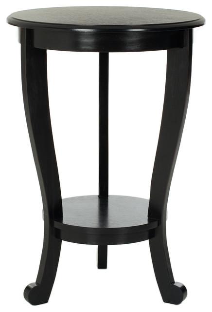 Safavieh Mary Pedastal Side Table, Distressed Black.