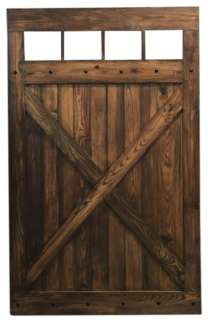 vintage farmhouse sliding barn door whitewash 30 x84
