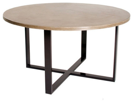 X Round Dining Table in Mesa Dining Tables by Hart Concrete Design