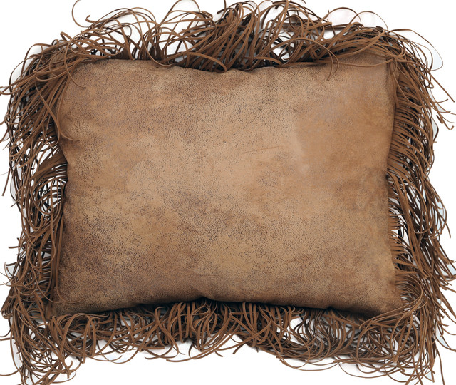 Tobacco Fringe Pillow.