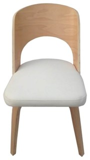 Fine Mod Imports Bendino Dining Chair, Off White