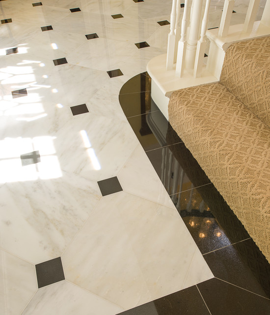 Marble Foyer Traditional Dallas