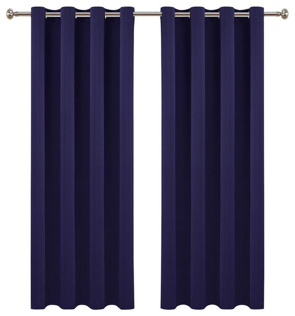Ponydance 2 Panel Blackout Curtains Set Of Royal Blue 63