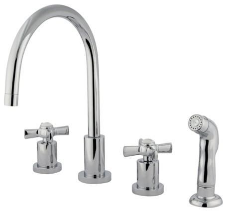 Kingston Brass Kingston Brass Millennium Widespread Kitchen Faucet Polished Chrome Reviews