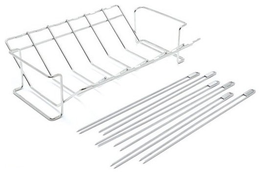 Broil King V Rack And Skewer Kit, Stainless Steel.
