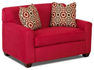 Savvy Zurich Sleeper Sofa, Chair, Cinnabar