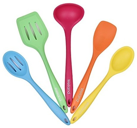 Silicone Kitchen Utensils Set Of 5 Contemporary Cooking Utensil Sets By Welland