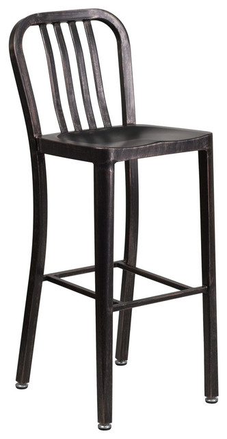Booker Acrylic Task Chair With Chrome Base, Black, Antique Gold.