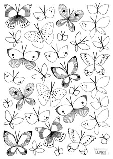 Lilipinso A3 Wall Stickers Butterflies 297x42 Cm Black And White Contemporary Childrens Wall Art on garden conservatory furniture