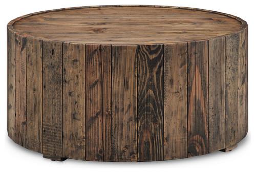 Dakota Round Cocktail Table, Rustic Pine