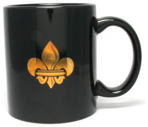 Coffee Mug Black Fleur De Lis Contemporary Mugs By Jubilee Gift Shop