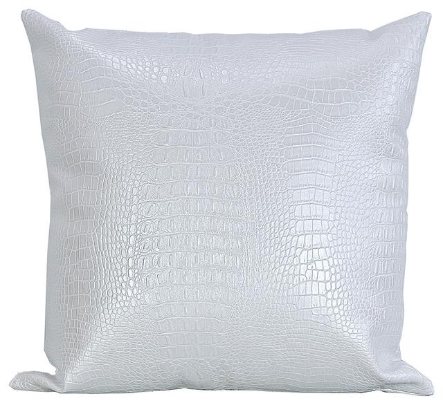 Black Croc Faux Leather Decorative Throw Pillows Set Of 40 New Faux Leather Pillows Decorative Pillows