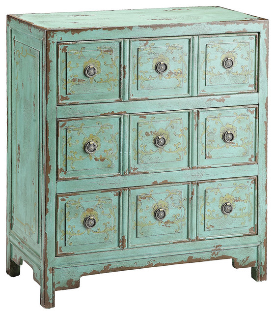 Anna Dressers & Chests In Green.