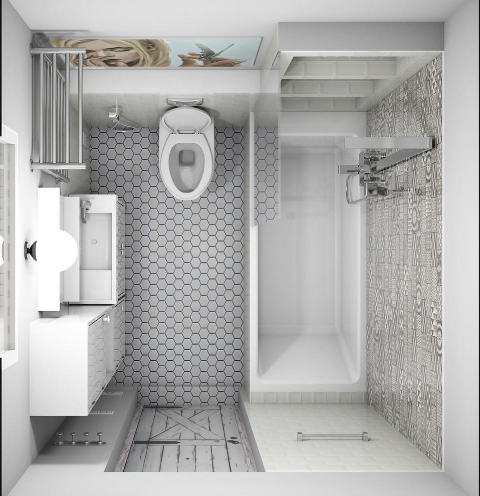 Квартира в американском стиле: ванная