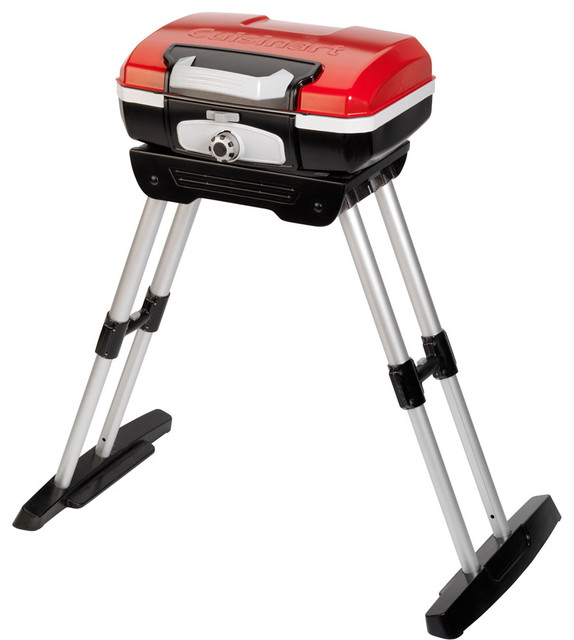 Petit Gourmet Portable Outdoor Lp Gas Grill With Versa Stand.