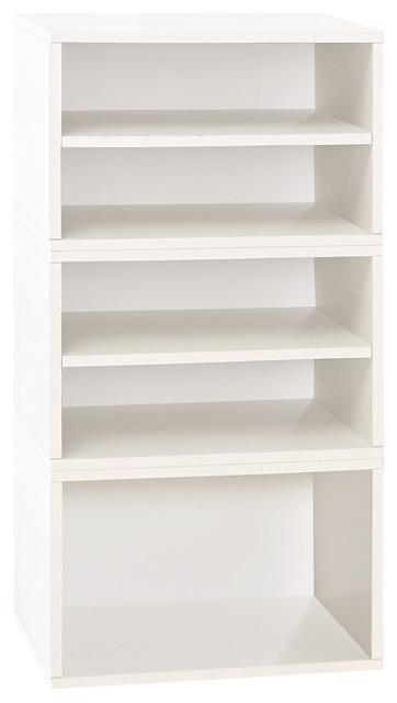 Eco Pisa Modular Stackable Shoe Storage Non Toxic Z Board Contemporary By Way Basics