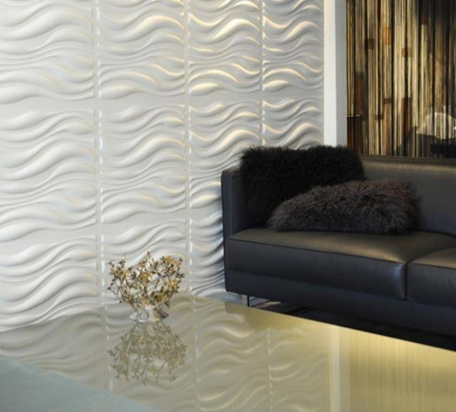 3d Wall Panels, Waves, Set Of 12.