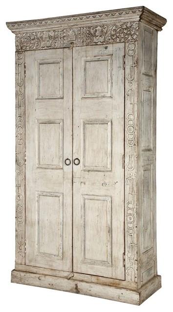 Dakota Handcrafted Solid Wood 2 Door Tall Rustic Armoire.