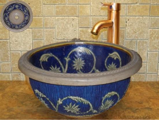 Handmade Travertine Sinks Rustic Bathroom Sinks