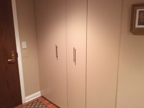 Entry Hallway Bifold Closet Door Paint Color
