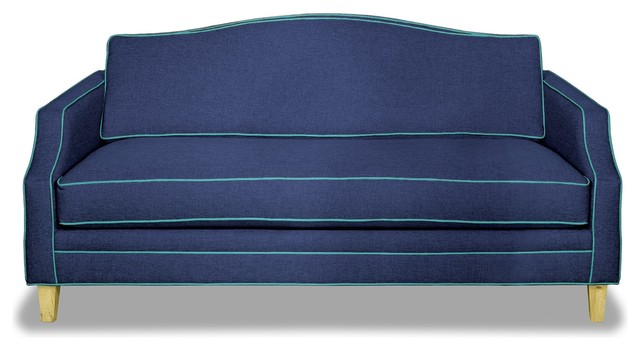 Blackburn Apartment Size Sofa, Navy/ocean Blue, 57x36x35.