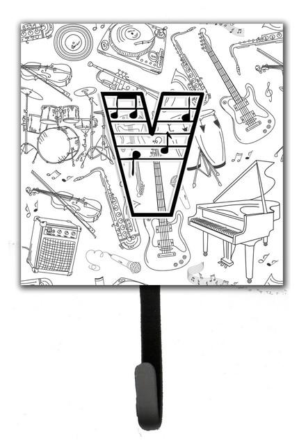 Letter V Musical Note Letters Leash/key Holder.