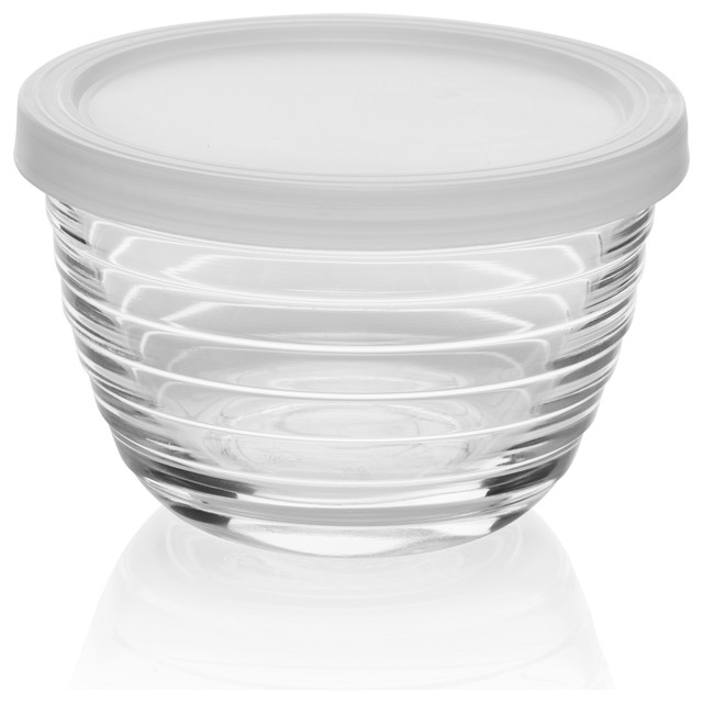 8-Piece Small Glass Bowl Set With Lids.