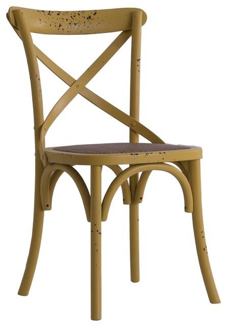 Uelzen Elm Wood Dining Chair, Mustard Yellow
