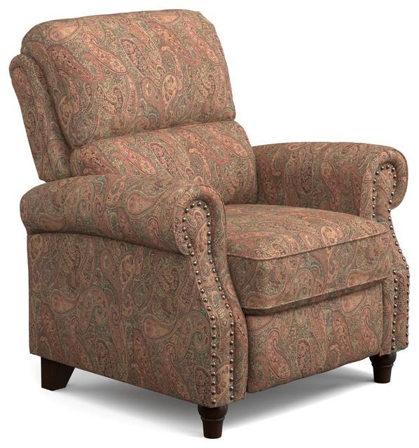 Gertrude Reclining Chair Brown Paisley