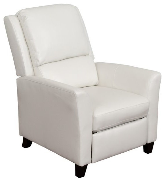 Superb Atlin Designs Bonded Leather Recliner White Bralicious Painted Fabric Chair Ideas Braliciousco
