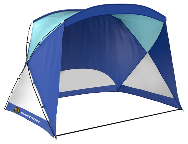 Blue Beach Tent / Sun Shelter Uv Protection With Carry Bag By Wakeman Outdoors.
