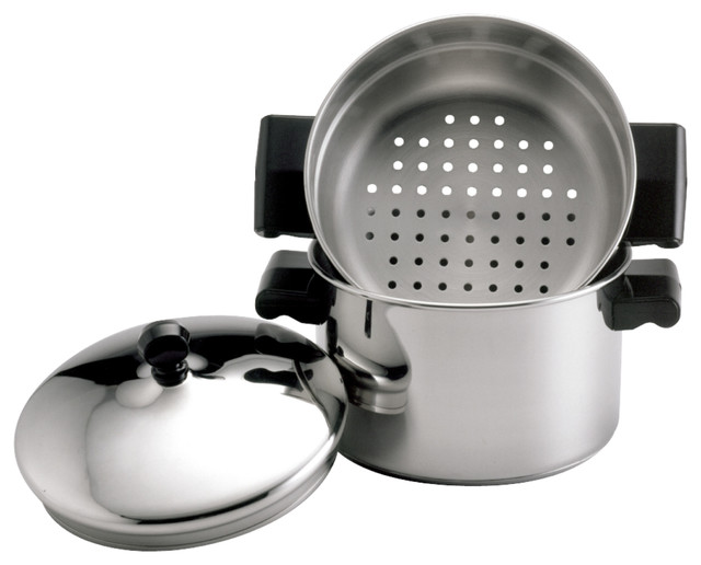 Farberware Classic Stainless 3 Qt Covered Stack &x27;n&x27; Steam Saucepot And Steamer.