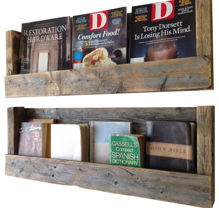 Texas Refined Barn Wood Shelves Set of 2 Rustic Wall