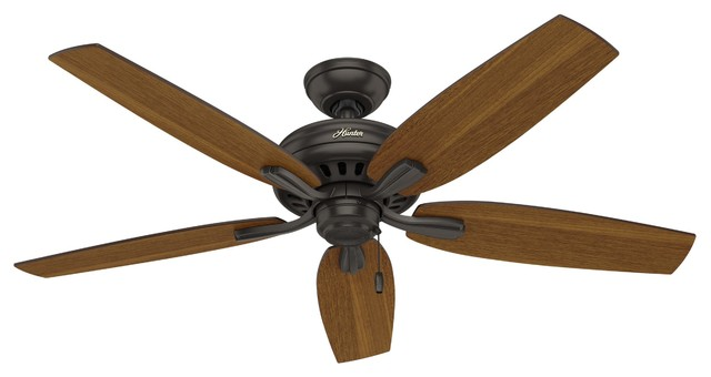 "52"" Newsome Outdoor Damp Ceiling Fan, Premier Bronze."
